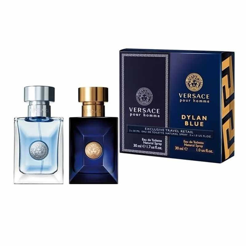 versace dylan blue pour homme edt 30 x 2 travel set